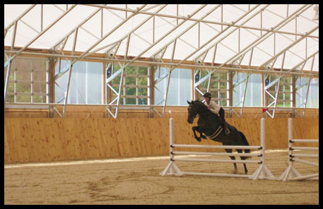 Indoor riding arena, horse barn